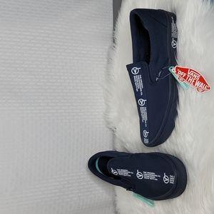 NWT Vans Distort canvas slip on shoes men's 12